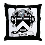 Combe Family Crest Throw Pillow