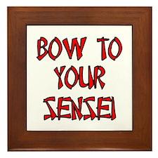 Bow To Your Sensei Framed Tile