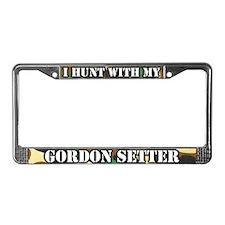 Hunting Gordon Setter License Plate Frame
