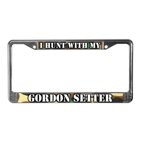 Hunting Gordon Setter License Plate Frame