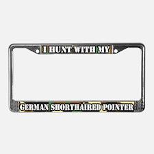 Hunting German Shorthair License Plate Frame
