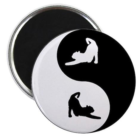 Yin Yang Cat Magnet