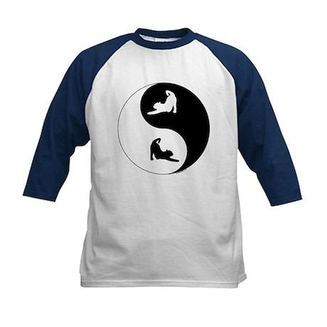 Yin Yang Cat Kids Baseball Jersey