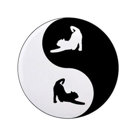 """Yin Yang Cat 3.5"""" Button (100 pack)"""