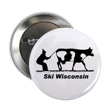"Ski Wisconsin 2.25"" Button"