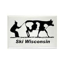 Ski Wisconsin Rectangle Magnet