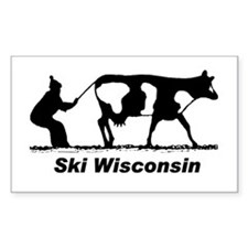 Ski Wisconsin Rectangle Decal