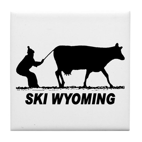 Ski Wyoming Tile Coaster