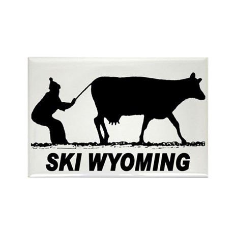 Ski Wyoming Rectangle Magnet (10 pack)