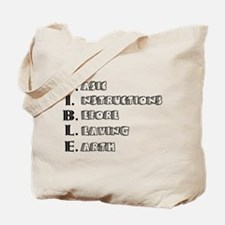 LG - B.I.B.L.E. Tote Bag