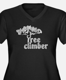 Tree Climber Women's Plus Size V-Neck Dark T-Shirt