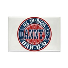 Danny's All American BBQ Rectangle Magnet