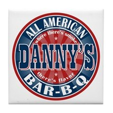Danny's All American BBQ Tile Coaster