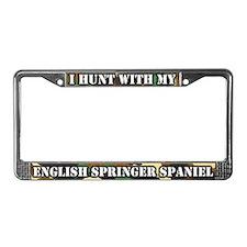 Hunt English Springer Spaniel License Plate Frame
