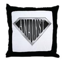 SuperAnalyst(metal) Throw Pillow
