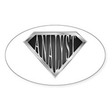 SuperAnalyst(metal) Oval Decal