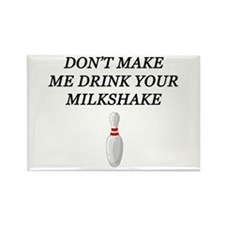 Drinking milkshake Rectangle Magnet