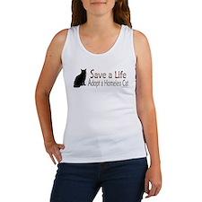 Adopt Homeless Cat Women's Tank Top