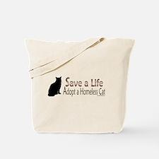 Adopt Homeless Cat Tote Bag