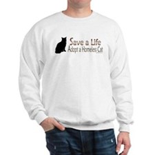 Adopt Homeless Cat Sweatshirt