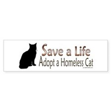 Adopt Homeless Cat Bumper Bumper Sticker