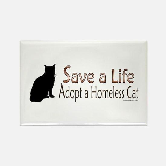 Adopt Homeless Cat Rectangle Magnet