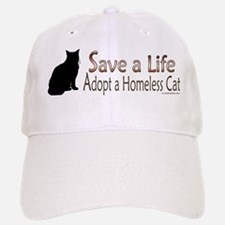 Adopt Homeless Cat Baseball Baseball Cap
