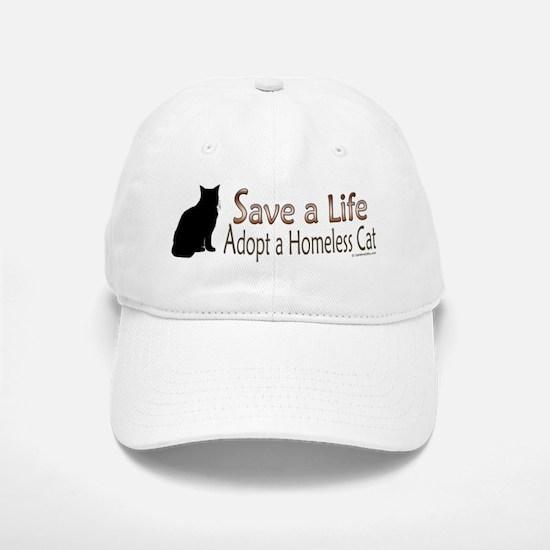 Adopt Homeless Cat Baseball Baseball Cap