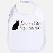 Adopt Homeless Cat Bib