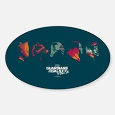 GOTG Profiles Sticker (Oval)