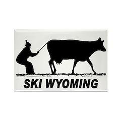 Ski Wyoming Rectangle Magnet