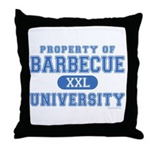 BBQ U. Throw Pillow
