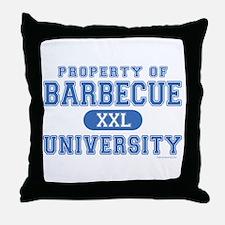 BBQ U. Throw Pillow