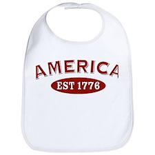 America Est 1776 Bib