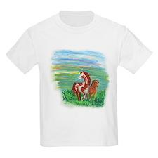 Horse And Colt Kids Light T-Shirt