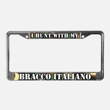 Hunting Bracco Italiano License Plate Frame