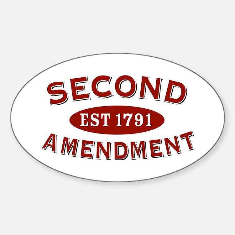 Second Amendment 1791 Oval Decal