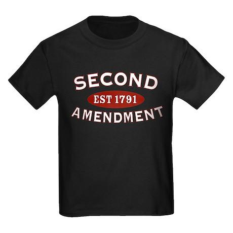 Second Amendment 1791 Kids Dark T-Shirt