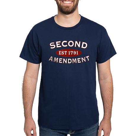 Second Amendment 1791 Dark T-Shirt