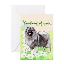 Keeshond portrait Greeting Card