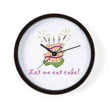Let me eat cake! (pink) Wall Clock