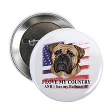 I Love My Country Button