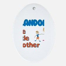 Landon - The Little Brother Oval Ornament