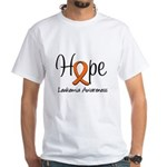 Hope For Leukemia White T-Shirt