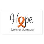 Hope For Leukemia Rectangle Sticker 10 pk)
