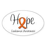 Hope For Leukemia Oval Sticker (10 pk)