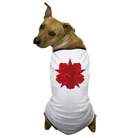 Skull and Roses Dog T-Shirt