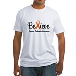 Believe (Leukemia) Fitted T-Shirt