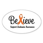 Believe (Leukemia) Oval Sticker (10 pk)
