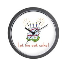 Let me eat cake! (red) Wall Clock